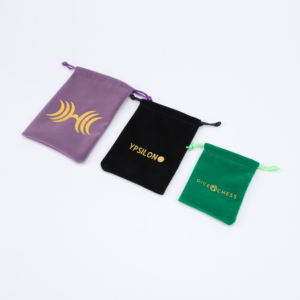 Wholesale Costom Logo Jewelry Packaging Bag Drawstring Custom Velvet Pouch
