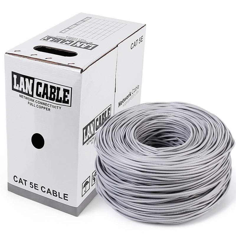 القط 5e شبكة الكابل Cat5 كابل شبكة محلية utp Cat5 ftp cat5e sftp cat5e كابل 305m 1000ft سحب مربع