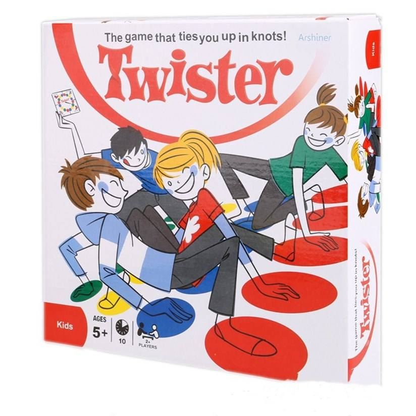 Wholesale twister game color box 162*118cm custom twister game and twister board game