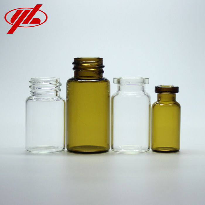2ml 5ml 10ml 20ml 30ml GMP Certified Clear or Amber Pharmaceutical or Cosmetic Glass Vials