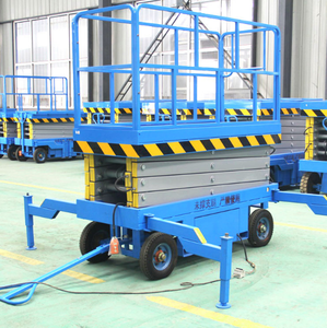 portable 12m 300kg four wheel mobile scissor lifting platform outdoor use