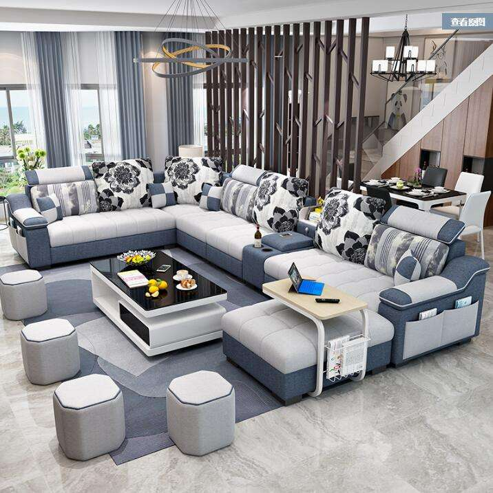 High-end home furniture sectional science and technology cloth sofa modern sectional sofa