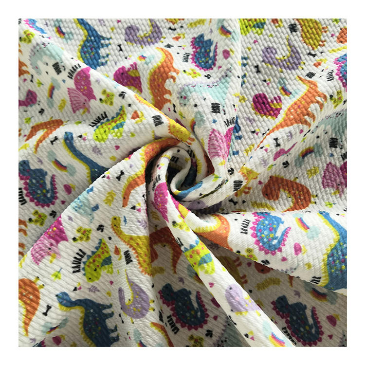 Digital Print Bullet Fabric In Stock No Minimum 4 Way Stretch Bullet Fabric For Bows