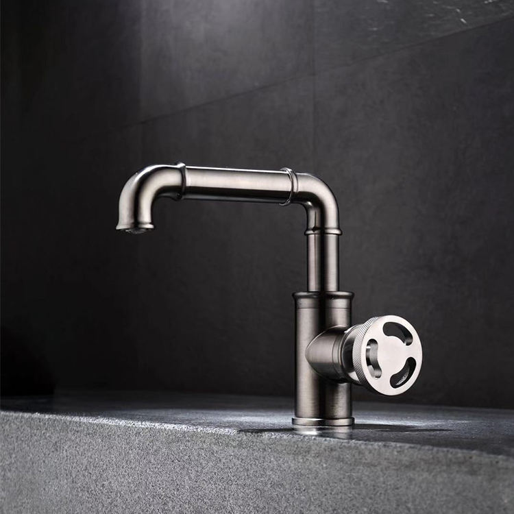 AMAXO cheap price commercial brass deck mounted bathroom sink faucets