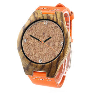 wholesale cheap new quartz wrist watch women ladies cork wood wristwatches