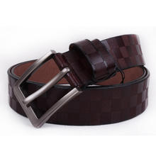 Wholesale unisex leather belt custom embossed leather belt