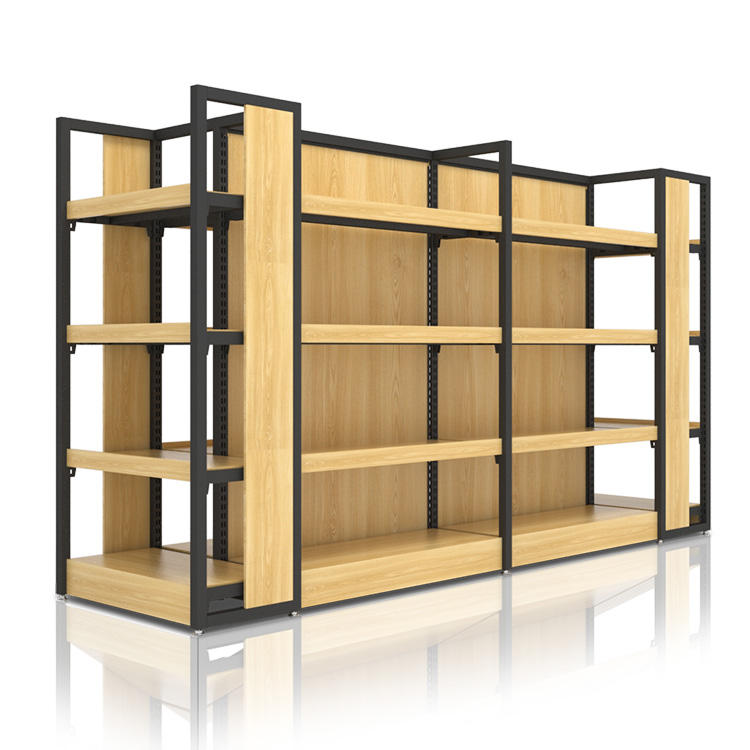 product wooden display shelf 37# Display shelf Black+wood color 10set