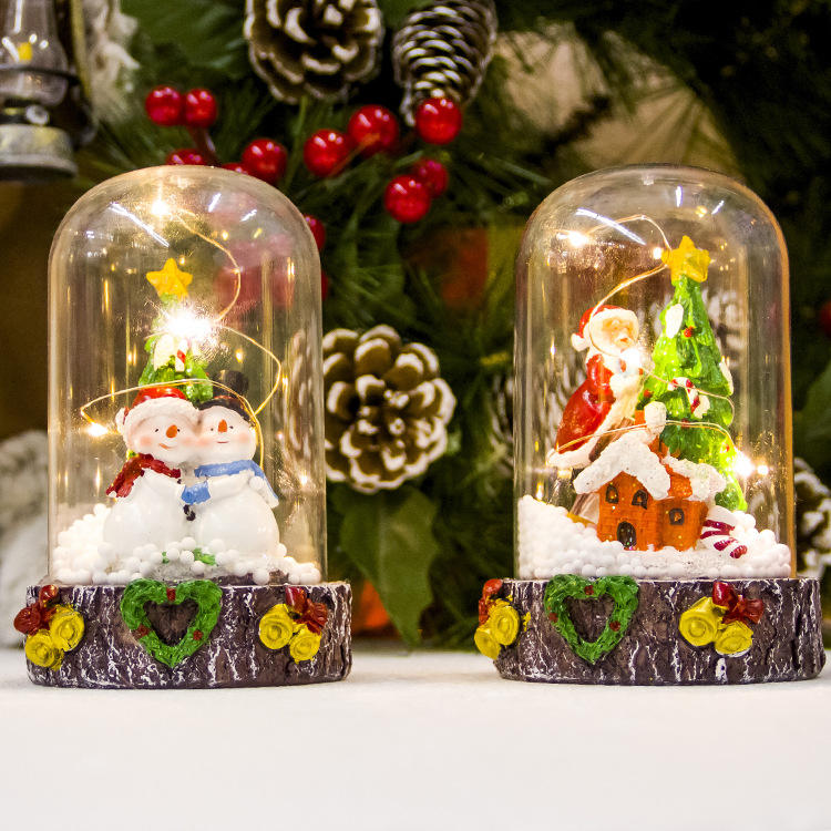 Creative resin Santa Claus snowman Christmas party decorations Merry Christmas Snow Globe gifts