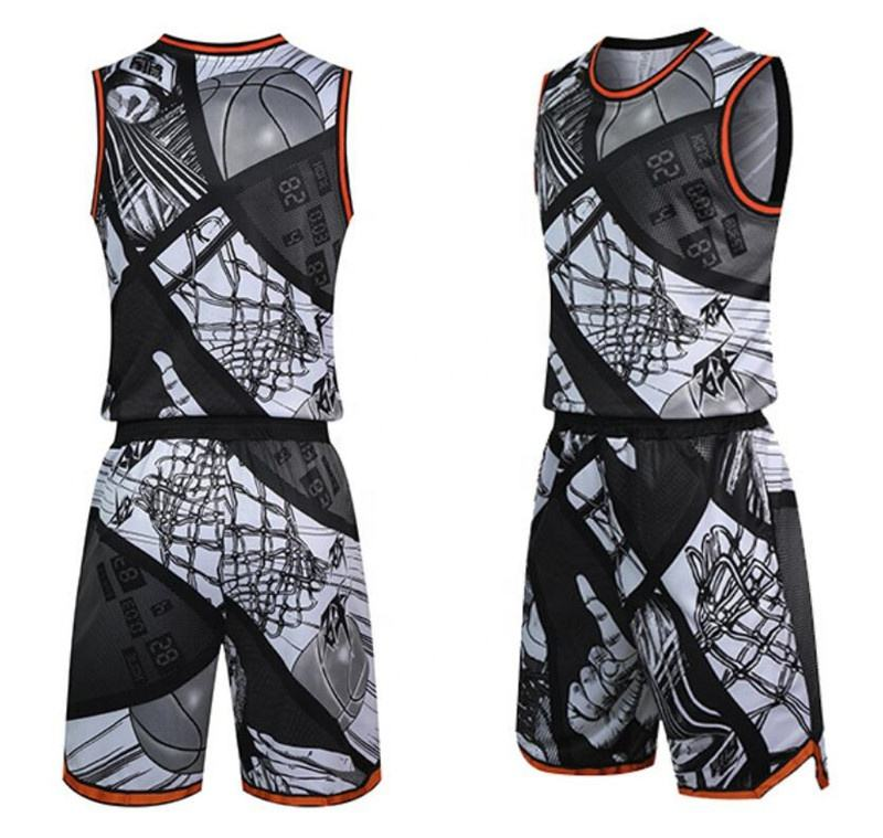 100% Polyester Custom Design Basketball Uniforms, Digital Sublimation Printing Basketball Jersey Supplier