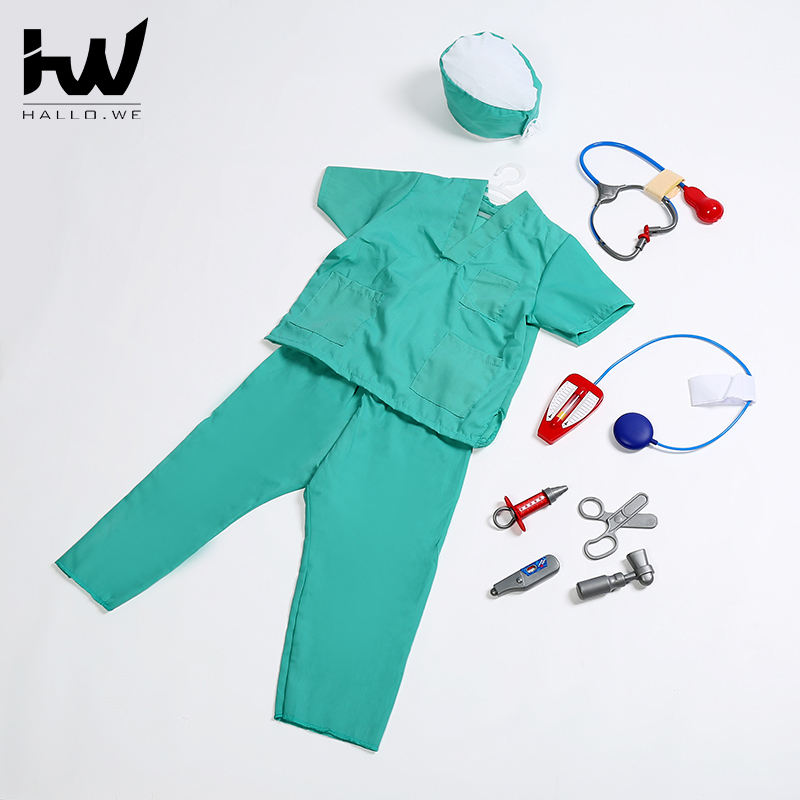 Brand of OEM&ODM carnival fanny surgeon cosplay uniform kids movie figure cosplay clothes