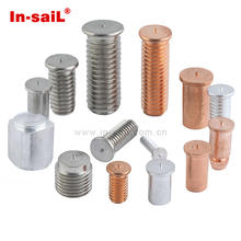ISO13918 capacitor discharge external thread steel copper plated weld stud