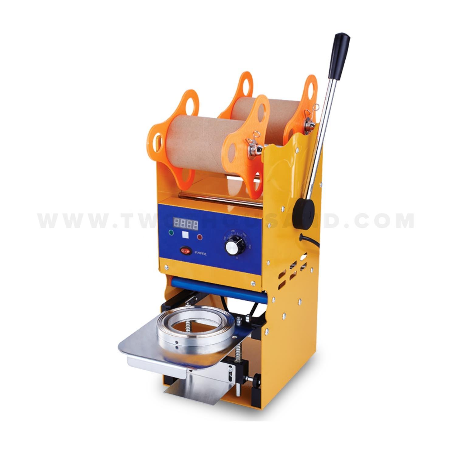 TT-A29B 300-500 Cups/Hour Plastic Disposable Juice Cup Sealing Machine