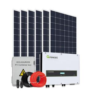 Einfach installieren photovoltaik 10 kva solar power system auf gitter kit Solar Panel set