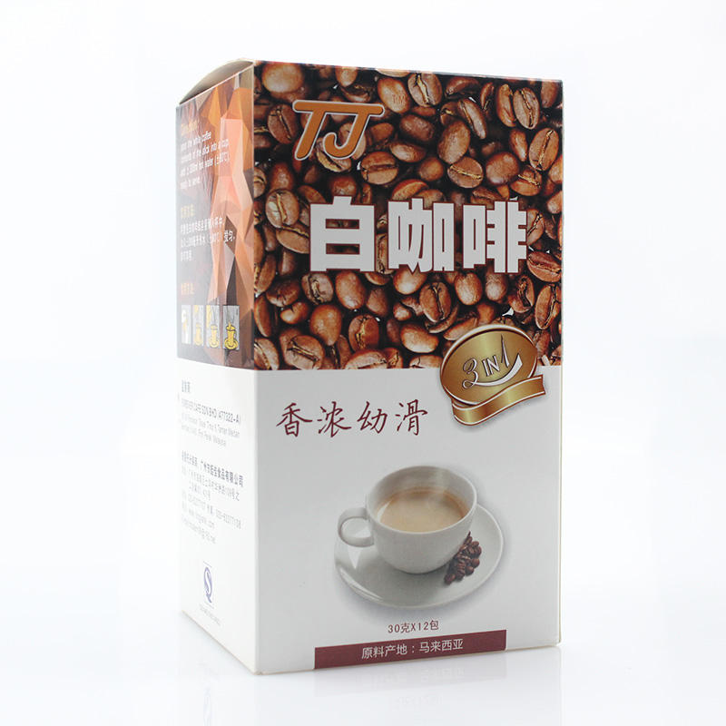 OEM Hot-selling Factory Supply High Quality 3in1 Instant white Coffee Powder for Bulk Sale