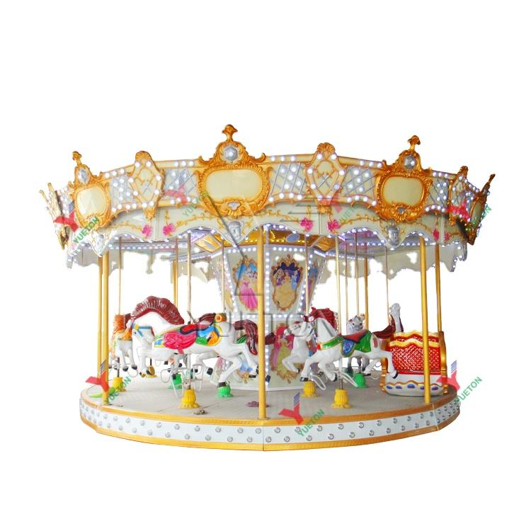 Fairground Attraction Outdoor Kids Luxury Amusement Park Rides Equipment Carrousel Horse Merry Go Round Carousel For Sale