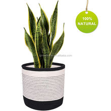 QJMAX Hot Sell Wholesales Plant Basket Cotton Rope Indoor Flower Pot For Living Room