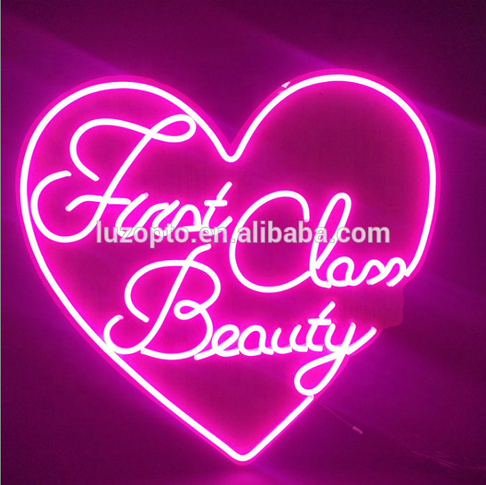 Fabricante de casamento amor sinal logotipo personalizado led flex neon loja sinal bar