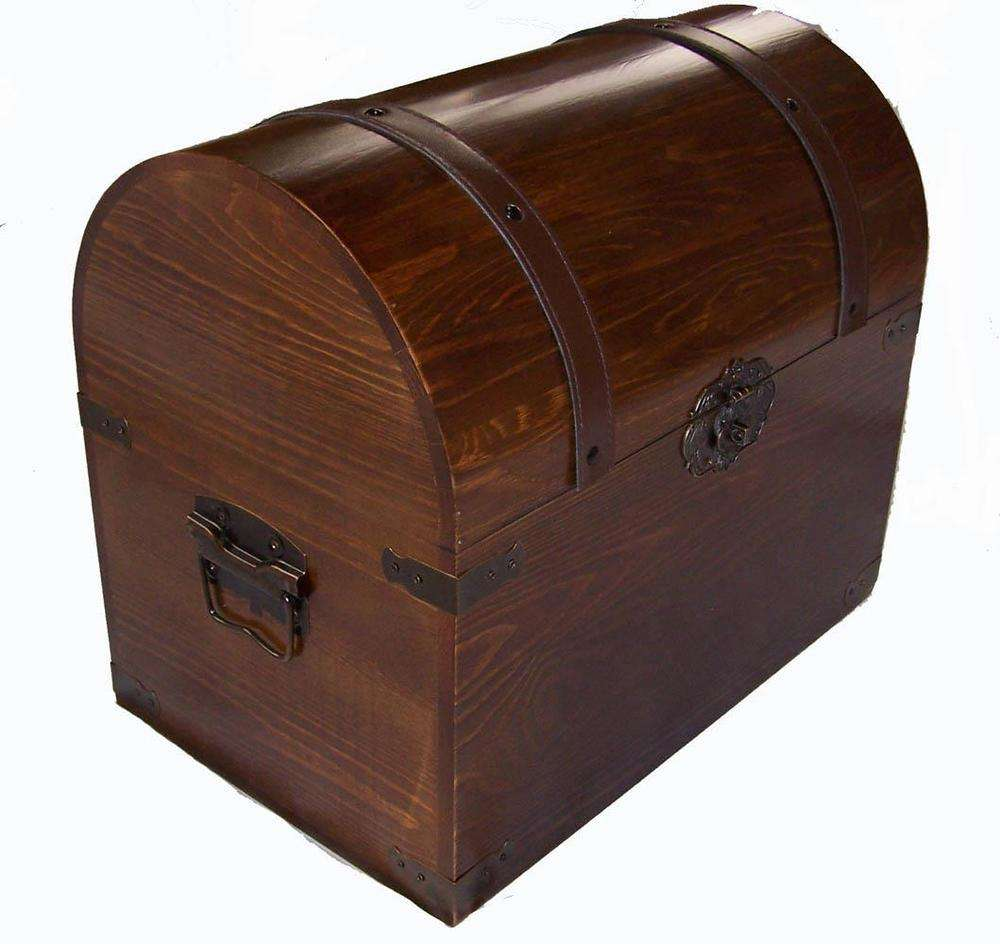 CUSTOM โบราณไม้ Trunk Treasure chest