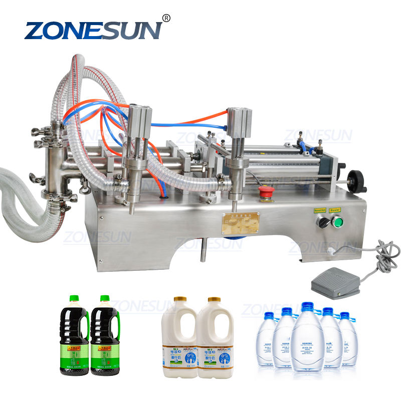 Zonesun Palm Oil Milk Bottle Plastic Bottle Olive Oil Beverage 1 Gallon Water Filling Machine Pneumatic