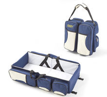 Multifunctional  Adjustable Travelling Bed Baby Nappy Changing Crib Diaper Bag