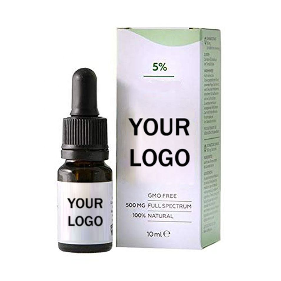 Private label Natural organic extract of hemp seed oil relieves pain, relieves fatigue and promotes sleep