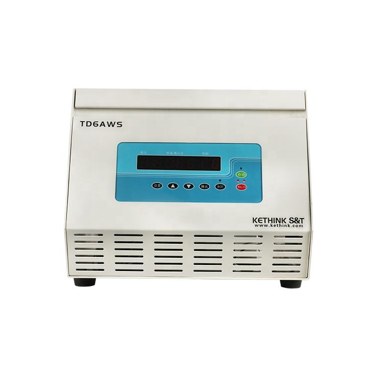 TD6AWS desk top 6000 rpm auto balancing scientific centrifuge for blood prp prf analysis