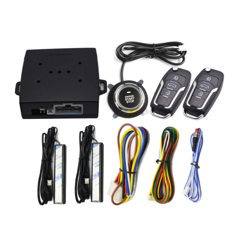 Universal alarme automobil <span class=keywords><strong>wireless</strong></span> sicherheit auto alarm system keyless entry fernbedienung push-start-taste auto wegfahrsperre