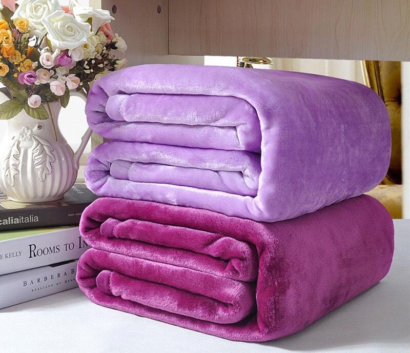 Cheap Price $0.99 Warmer Blanket 70*100CM Custom Solid Throw Fleece Flannel Blanket