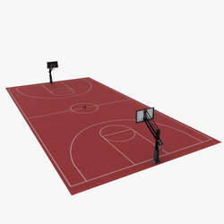 Multi Function polymer portable basketball fullcourt sports flooring in room