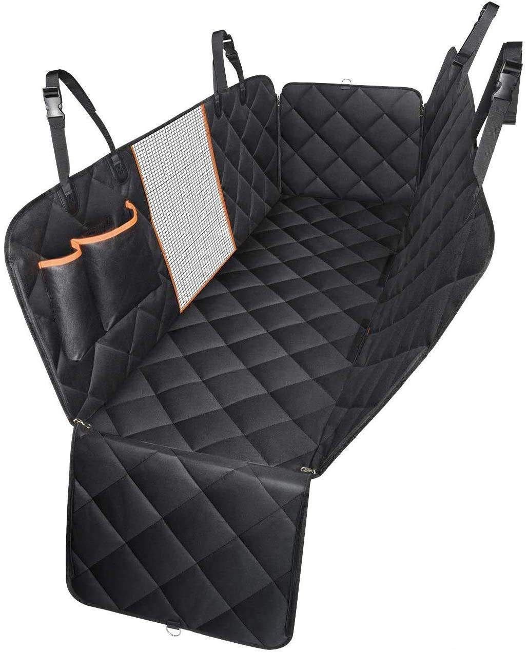 Groothandel Fabrikant Grote Zwarte Waterdichte Opvouwbare Wasbare Carrier Hond Auto Seat Cover