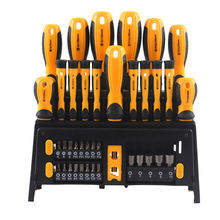 Hot Selling Low Price Multi-function Screw Driver Set Hand Tool Set , Household Tool Set New Plastic Handle Screwdriver
