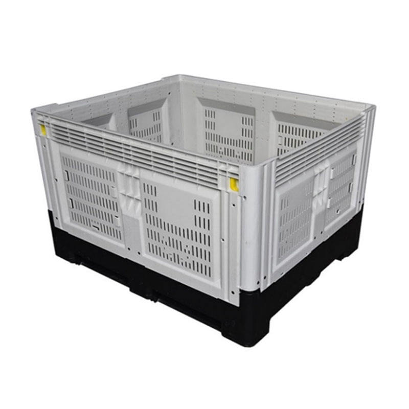 1200x1000 large mesh shipping plastic folding crate