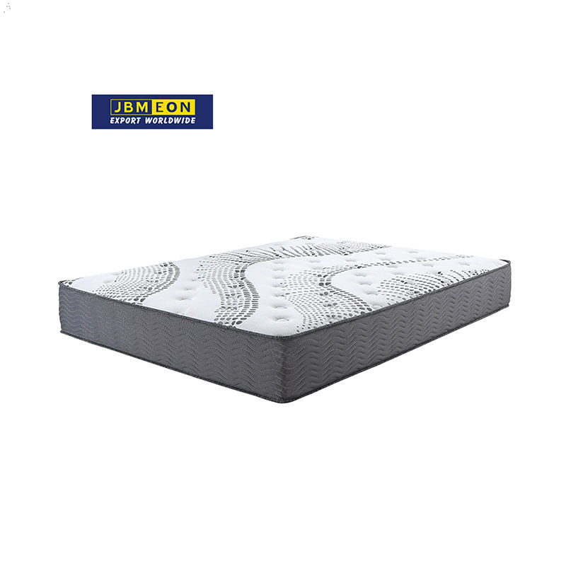 JBM 14 Inch Euro Top high quality gel memory foam 3 zone pocket spring compress mattress wholesale bed leather