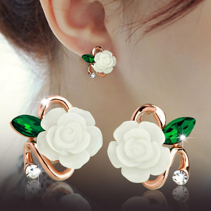 clip on pearl earring cheap discount jewellery brincos joyeria flower clip on gold earring with crystal
