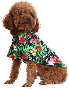 Hawaiian Pet Dog Polo T Shirts Cute Puppy Cats Cool Summer Custom Print t Shirt for Dog