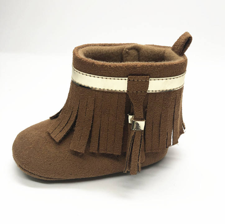 Wholesale Fashion Tassels Winter Baby Suede Ankle Boots