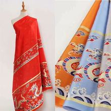 Chinese style red design 8 colors beauty jacquard fabric