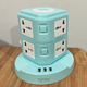 Universal USB power strip with night lamp extension socket with usb
