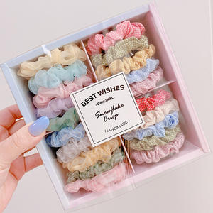 20pcs/Box Candy Color Elastic Headband Hair Rope Rubber Bands Scrunchy Hair Accessories Gum for Girl Women Ponytail