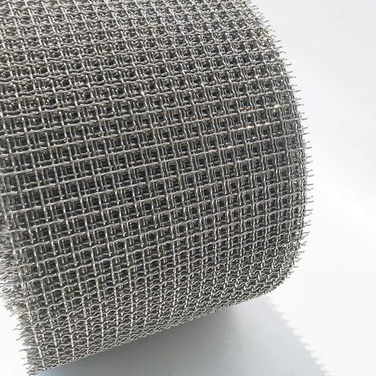 Layar Logam Stainless Steel Crimped Woven Wire Mesh Galvanis