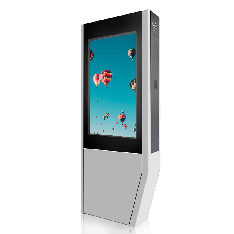 3g all in one pc ad poster lcd floor standing digital signage kiosk screen advertising outdoor