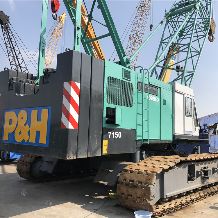 Strong power Original Used Japan forkobelco 7150 Used 150 ton Crawler Crane for sale