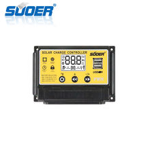 Suoer 12V/24V 30A Intelligent PWM Solar Charge Controller from Foshan