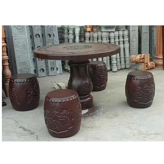 Concrete Garden set Round Shape Table Seat Plastic Mold For outdoor relaxing