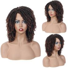 Wholesale short synthetic crochefaux locs wig dreads style african braided wigs hair dreadlocks wigs for woman