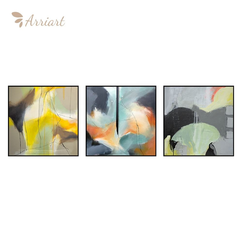 3 Panels Modern Wall Art On Sale Living Room Home Wall Decoration Abstract Canvas Oil Painting