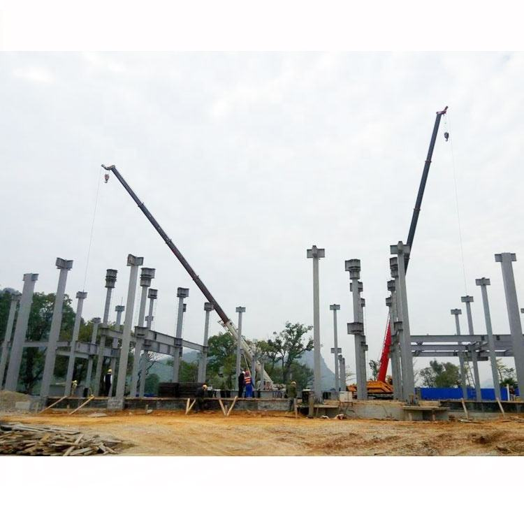 EPC Contract Sandwich Panel Steel Structure H Type Column Steel Frame Warehouse