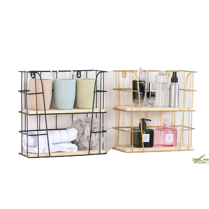 Quality Assured Knock-down Structure Bathroom Shelf Wall Dish Rack For Bottle