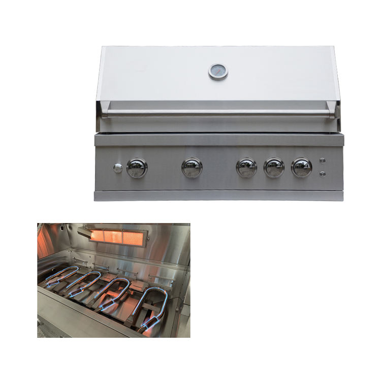 Outdoor Kitchen Island Propane Gas Barbecue Grill