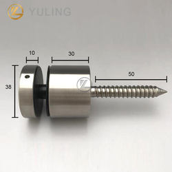 YL In Stock Stainless Steel Glass Railing 38mm Glass Standoff Hardware